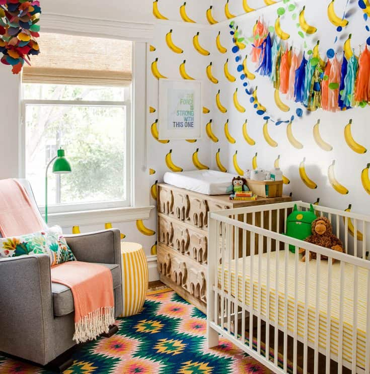Banana Baby Girl Nursery Room