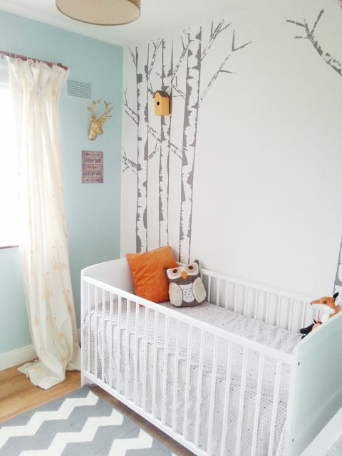 Forest Themed Baby Girl Room