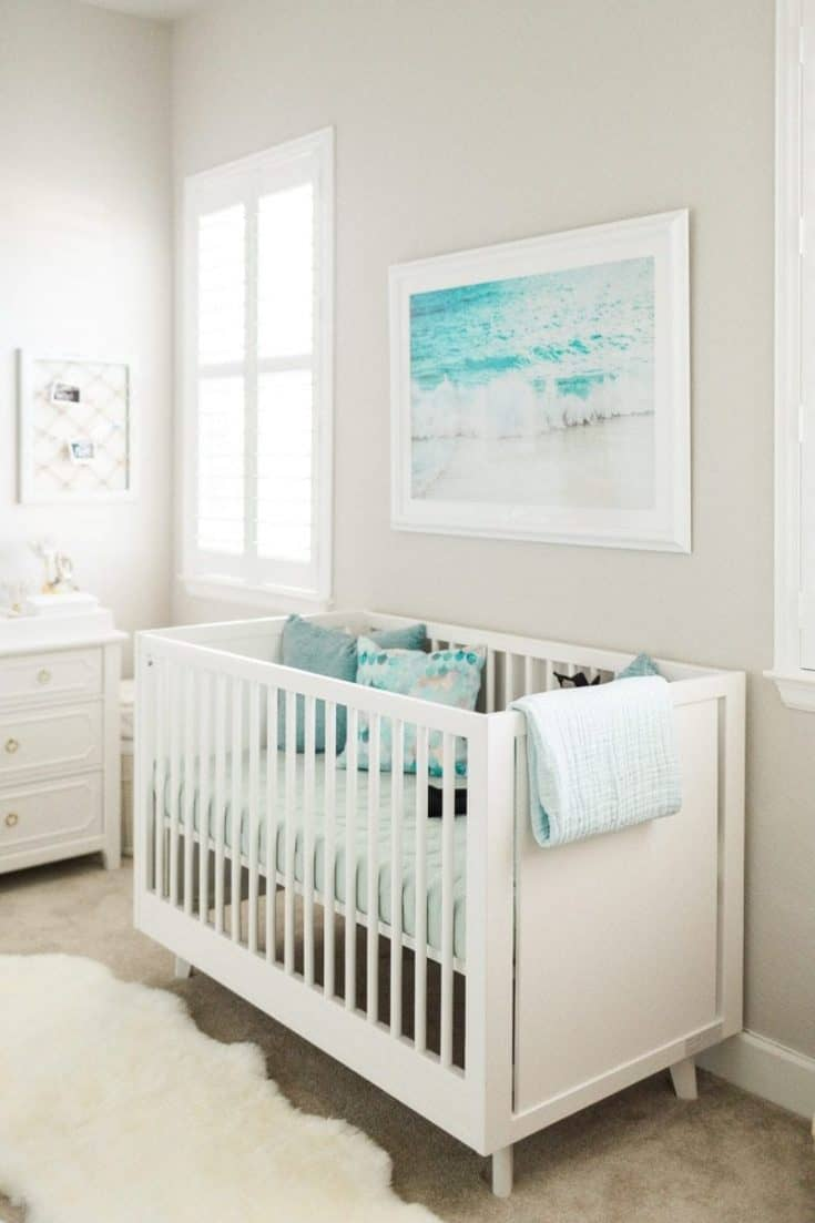 Ocean Inspired Baby Girl Nursery