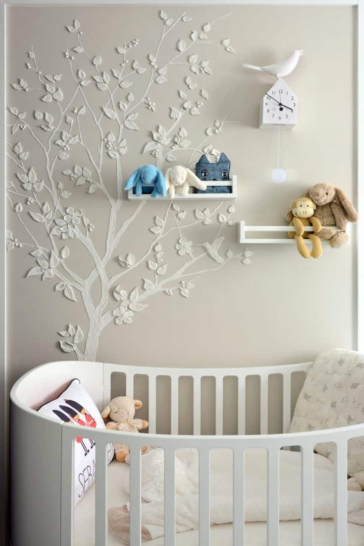 Soft Gray Baby Girl Nursery