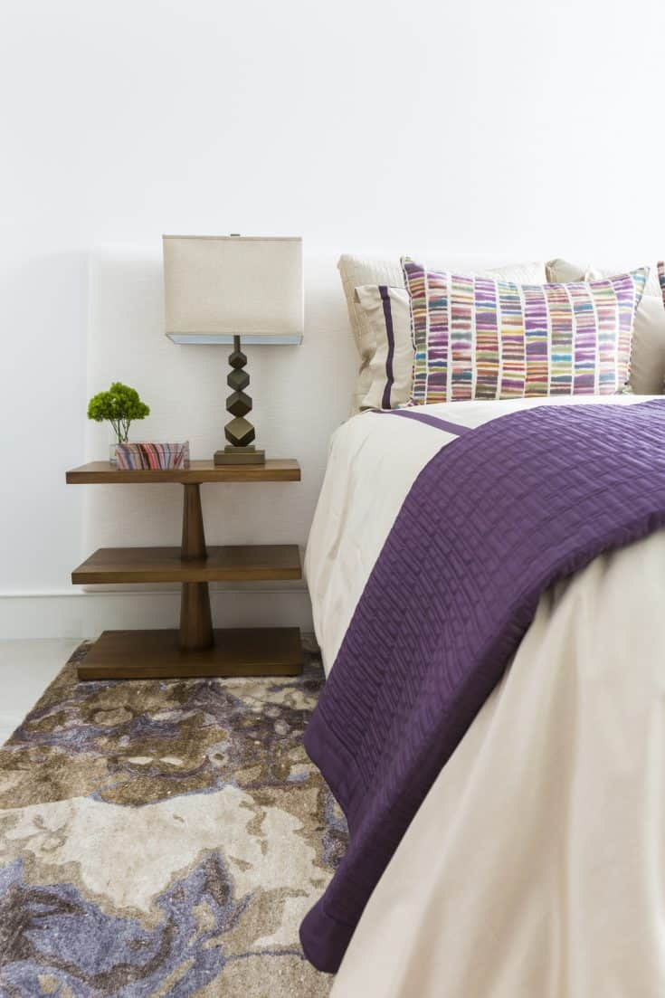Purple and Classic Woody Bedroom