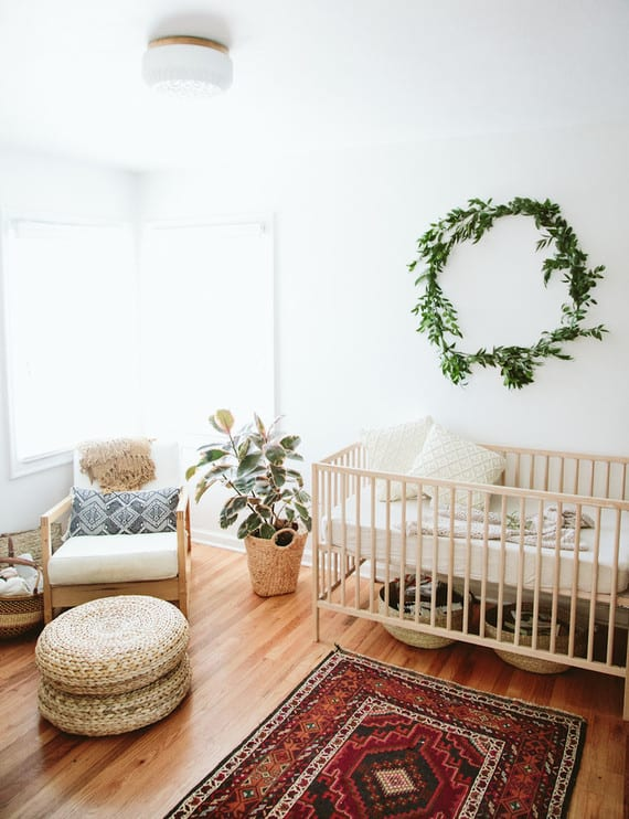 Natural Bohemian Baby Girl Room