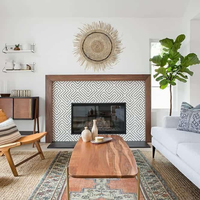Modern Tiles and Wooden Frame
