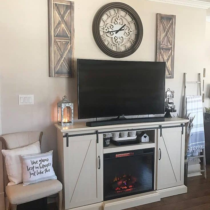 Mini Fireplace TV Stand for Apartment
