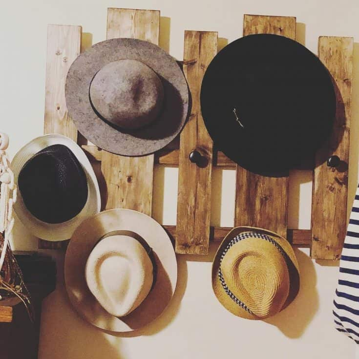 Rustic Hat Rack from Recycled Boards