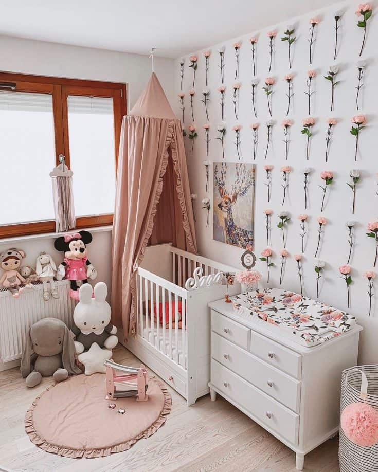 Gorgeous Floral Baby Girl Room