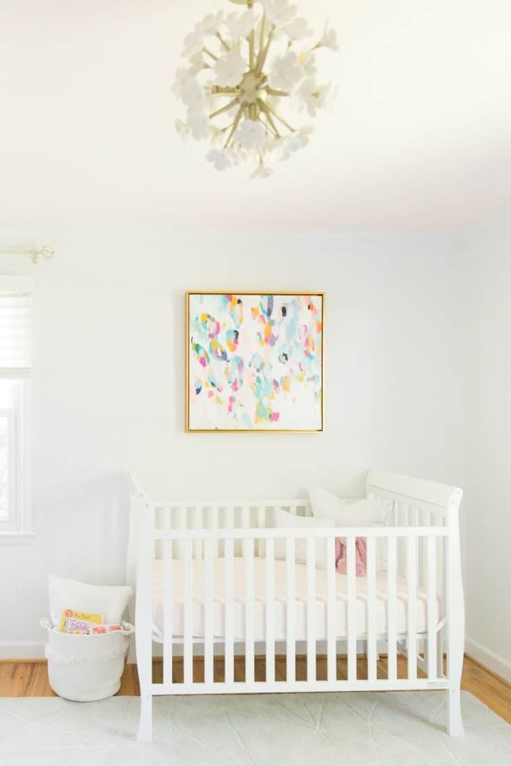Simple Baby Girl Nursery