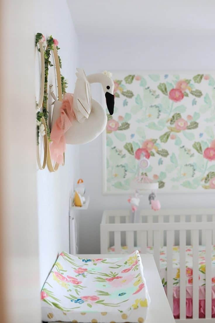 Colorful Floral Baby Girl Room