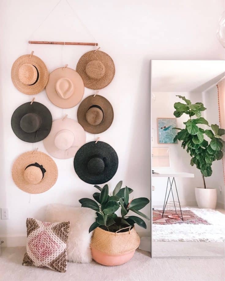 Simple DIY Hat Display with Clips