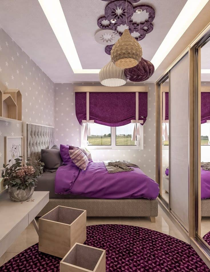 Luxurious Gray and Purple Bedroom Ideas