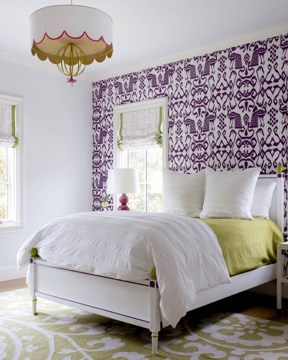 Purple Tribal Wallpaper for Classic Bedroom