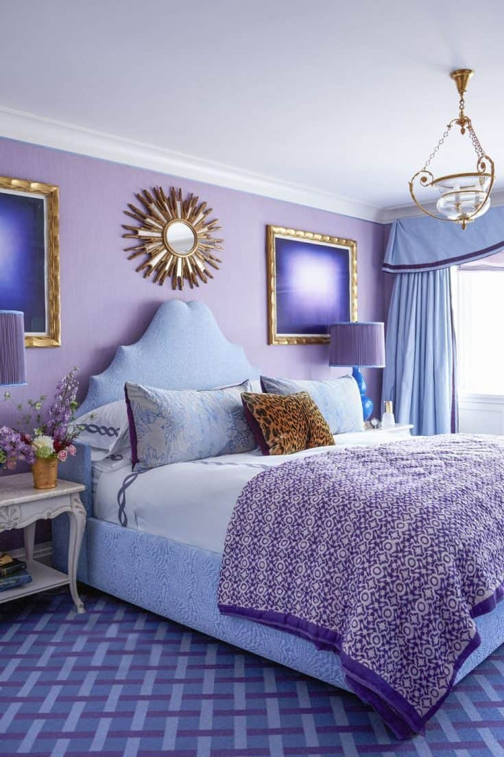 Purple and Blue Décor Bedroom Ideas