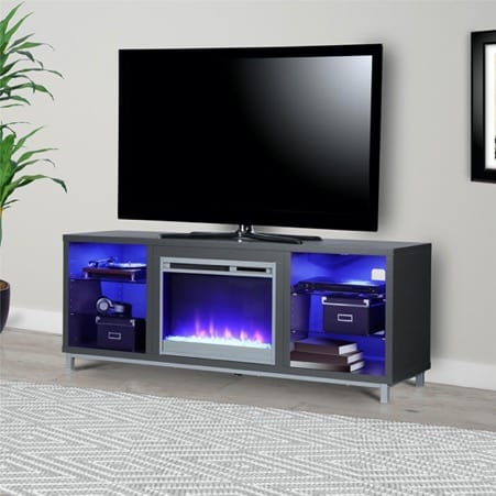 Sleek Fireplace Stand for a 70-inch TV
