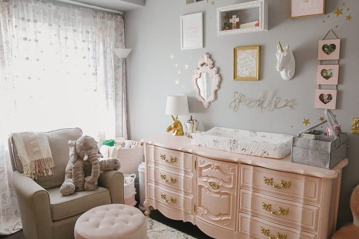 Unicorn Themed Baby Girl Nursery