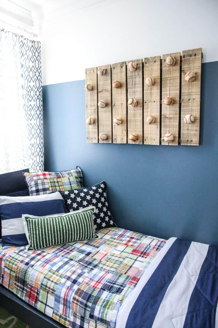 Wooden Pallet and Ball Rack